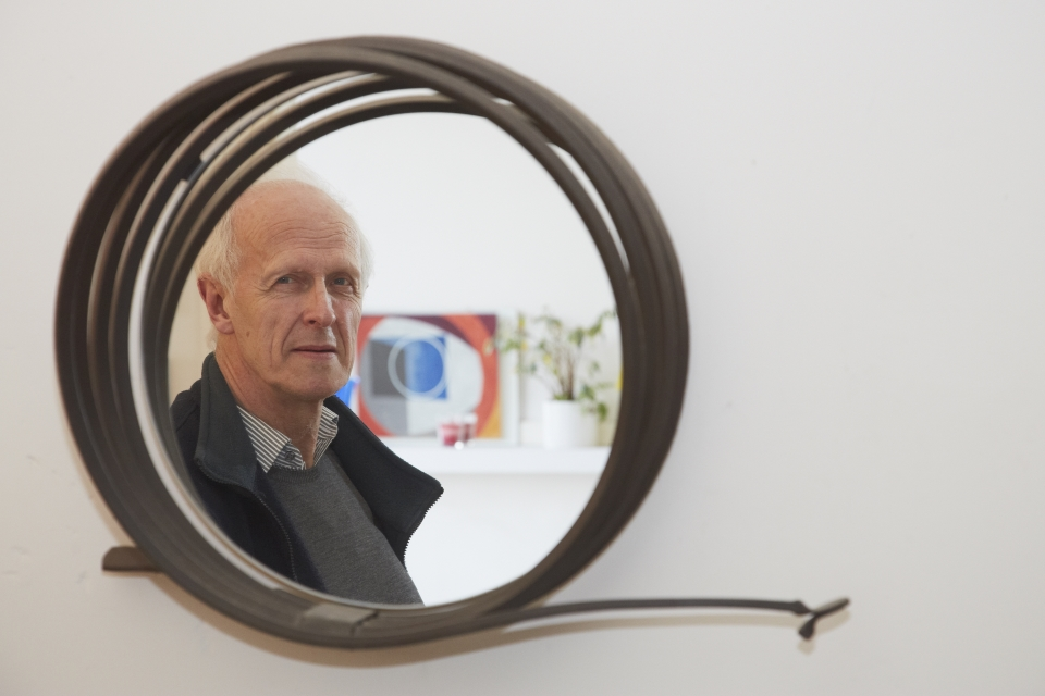 The Author reflected in a mirror by John Creed. Image copyright Andy Phillipson